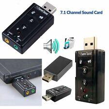 Sound Card 3D Mini  Adapter USB 2.0 Channel 7.1 External PC External Audio Card