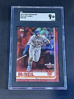 2019 Topps Opening Day Red Foil Jeff McNeil SGC 9 RC Rookie PSA ?