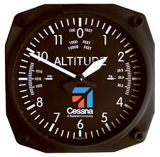 "Cessna Altimeter - 6"" Aviation Wall Clock by Trintec - CES-9060"