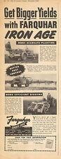 1951 vintage farm Ad Farquhar Iron Age Potato Planters 092416