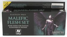 Vallejo 74.102 Malefic Flesh Set (Fantasy Pro) Acrylic Paints Nocturna 8 Colors
