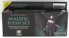 Vallejo 74.102 Malefic Flesh Set (Fantasy Pro) Acrylic Paints Nocturna 8 Colors
