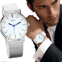 Men's Women's Fashion Watch Stainless Steel Band Quartz Analog Wrist Watches