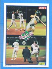1990 Score #702 Rickey Henderson/Jose Canseco/Carney Lansford WS Athletics
