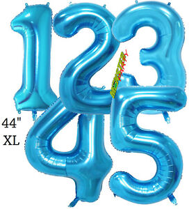 """44"""" XL GIANT FOIL NUMBER BALLOONS BALLOON BIRTHDAY pink rose gold blue lol doll"""