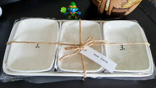 Rae Dunn Numbered Dishes W/Tray 1, 2, 3 RARE Discontinued, NEW!