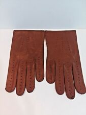 Mens Soft Brown Leather Gloves