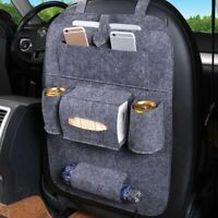 Back Car Van Seat Kids Organiser Tidy MultiPocket Headrest Storage Contain Gray