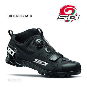 Sidi DEFENDER MTB Outdoor Mountain Bike Shoes : BLACK - NEW in BOX!
