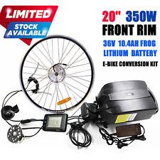 """20"""" 36V 350W Front Hub Motor Conversion Kit for Mini Folding BMX Bicycle Bike"""