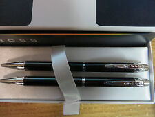 Cross  Helios Black Lacquer Ballpoint Pen and 0.9MM Pencil Set In Gift Box
