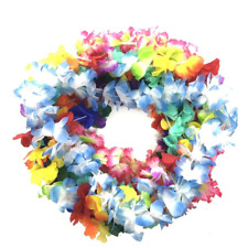 BOSHENG Hawaiian Colorful Luau Flower Leis Necklaces for Party Event,Set of 30