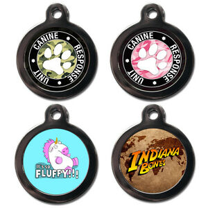 Cute Custom PET ID TAGS Dog Cat Name Pet Tags For Collars Personalised Free