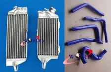 For Kawasaki KX250 1990 1991 1992 1993 90 91 Aluminum radiator & Silicone hose