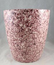 Vintage Ceramic Splatter Paint Waste Basket/  Planter