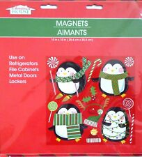 New Christmas House Refrigerator, Car, Dishwasher, Metal Doors Magnets ~Penguins