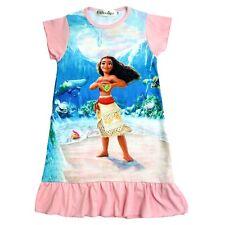 New Pink Cotton Moana Dress Girls Night Gown Size 8 Short Sleeve