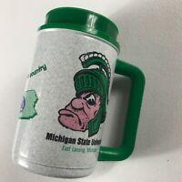 Michigan State Spartans Mug VTG Thermos USA Made MSU Drink Travel Big 10 Schools