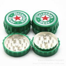New 2-layer grinder mini wine bottle cap shape metal grinder for smoking 50mm