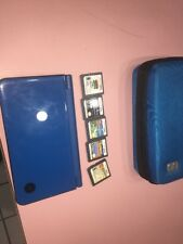 Nintendo 3DS XL Blue & Black Tested Works Great With 5 Games And Case