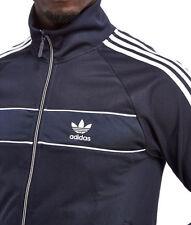 LARGE adidas Originals MEN'S Slim Fit NATIONAL TRACK TOP JACKET  DARK BLUE  1AVL