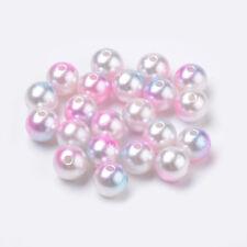 50 Acrylperlen Wachsperlen 10mm dreifarbig-glänzend