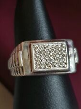 Cubic Zirconia Stones Mens Signet ring With