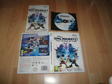 EPIC MICKEY 2 THE POWER OF TWO WALT DISNEY PARA LA NINTENDO Wii USADO COMPLETO