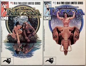 Tarzan of the Apes #1 & #2. Complete 1984 Marvel mini-series. Dan Spiegle!
