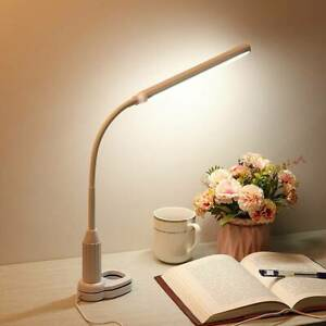Dimmable LED Desk Lamp Clip-on Touch Control Table Reading Light Office Study