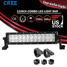 """12"""" LED Fog Light Bar W/Roll Clamp Mounting brackets For Can-Am Maverick X DS"""