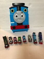 Thomas The Train & Friends Diecast Trains Lot Of 8 and Plastic Carry Case