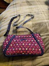 Vera Bradley Trimmed Trapeze Crossbody Handbag in Katalina Pink Diamonds