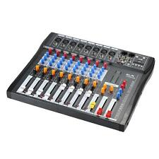 ammoon 8 Channel Digtal Mic Line Audio Mixing Mixer Console 48V Phantom G1L0
