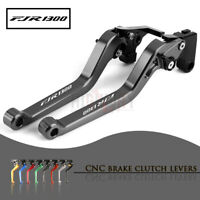 Motor CNC Aluminum Long Adjustable Brake Clutch Levers for YAMAHA FJR 1300 04-18