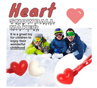 Heart Shaped Snowball Maker Clip Kids Outdoor Toy Winter Sand Mold Tool