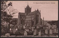 More details for orkney islands. kirkwall - st.magnus cathedral from e - early valentine postcard