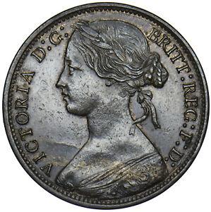 1865 PENNY - VICTORIA BRITISH BRONZE COIN - V NICE