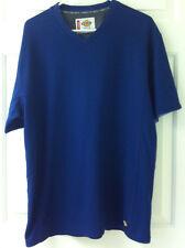 Dickies: navy blue, s/s sport arm pocket, reflect trim, v-neck, jersey tee, L