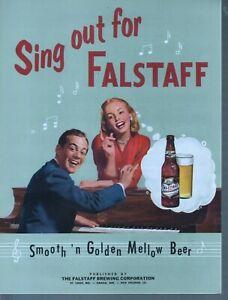 Sing Out For Falstaff 1952 Falstaff Beer Sheet Music
