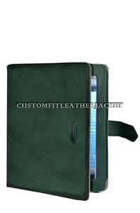 New iPad 2 3 & 4 Green Wax Nappa Luxury Real Genuine Leather Cover Case Stand