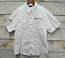 Steve's Jeans Big Mens Size 4X White Classic Fit Snap Down Shirt New