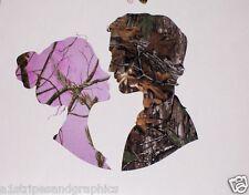 Pink Camo Husband & Camo Wife Window Decal Decals Real Tree Sticker M4 Mossy Oak
