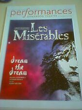 LES MISERABLES PERFORMANCES Playbill 2011 Los Angeles AHMANSON THEATRE new