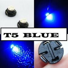 Blue T5 Neo Wedge LED Twist lock Light Bulbs 12mm Dash Interior Car Switch