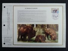 FRANCE CEF 1974 BISON WISENT ERSTTAGSBLATT SAMMELBLATT DOCUMENT z834