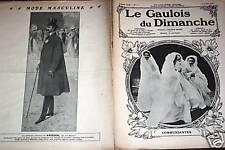LE GAULOIS DU DIMANCHE 1908 N° 22 LES COMMUNIANTES