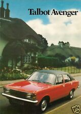 Talbot Avenger 1979-80 UK Market Sales Brochure LS GL 1300 1600 Saloon Estate