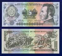 HONDURAS 5 LEMPIRAS 2010 P91 UNCIRCULATED AM-1