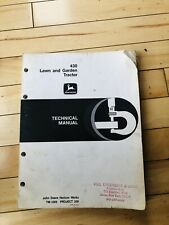 John Deere 430 Lawn & Garden Tractor Technical Manual Tm-1309 H-1